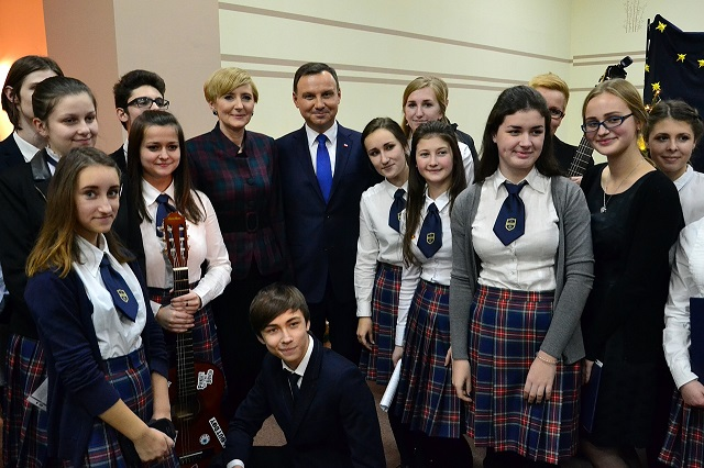 Zdjęcie z Parą Prezydencką to piękna nagroda dla naszej młodzieży